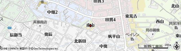 愛知県西尾市田貫町(南山)周辺の地図