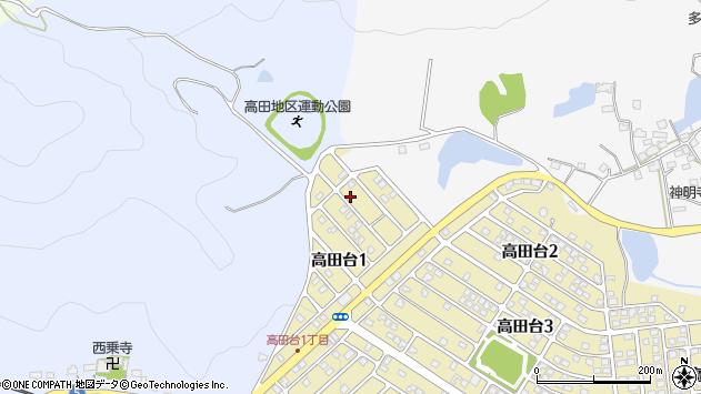 〒678-1226 兵庫県赤穂郡上郡町高田台の地図
