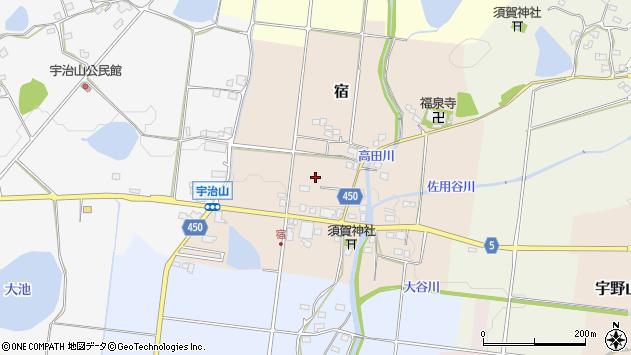 〒678-1217 兵庫県赤穂郡上郡町宿の地図