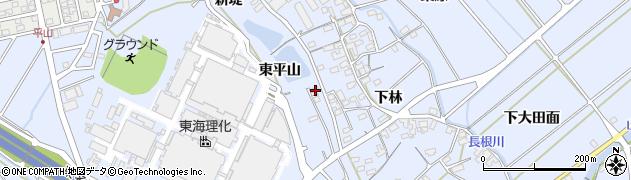 愛知県豊川市赤坂町(新堤)周辺の地図