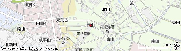 愛知県西尾市法光寺町(西山)周辺の地図