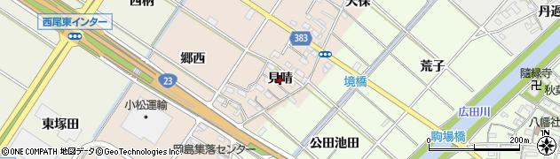 愛知県西尾市岡島町(見晴)周辺の地図