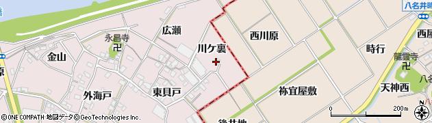 愛知県豊川市江島町(川ケ裏)周辺の地図
