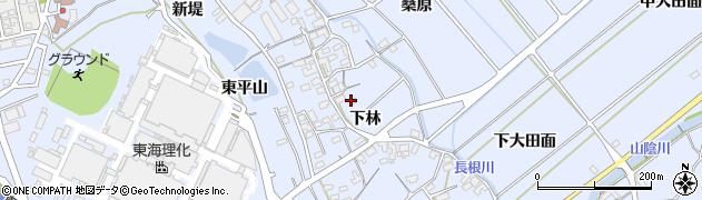 愛知県豊川市萩町(下林)周辺の地図