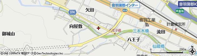 愛知県豊川市長沢町(向屋敷)周辺の地図