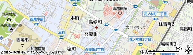 朝小周辺の地図