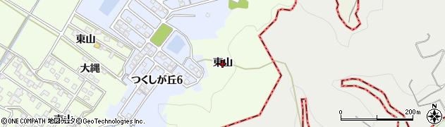 愛知県西尾市駒場町(東山)周辺の地図
