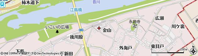 愛知県豊川市江島町(金山)周辺の地図