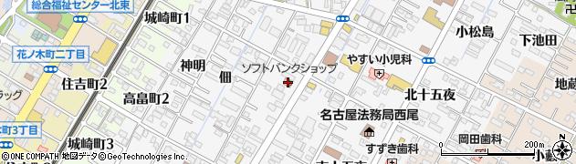 愛知県西尾市寄住町(若宮)周辺の地図
