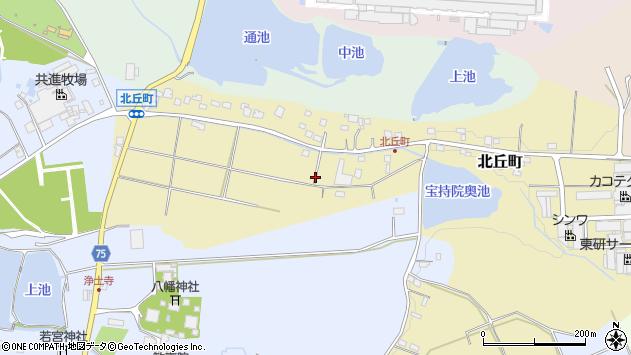 〒675-1318 兵庫県小野市北丘町の地図
