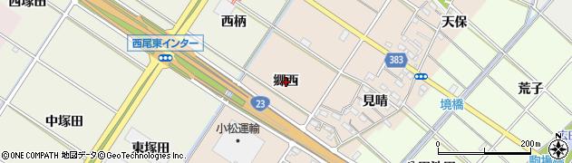 愛知県西尾市岡島町(郷西)周辺の地図