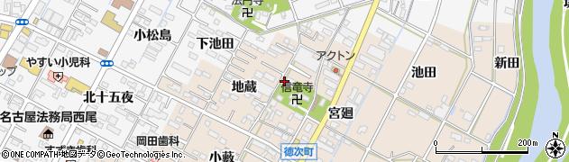 愛知県西尾市徳次町周辺の地図