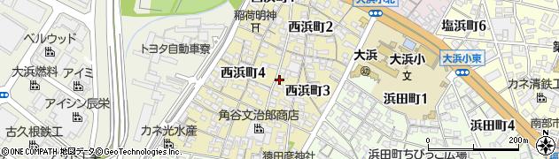 村のカジヤ周辺の地図