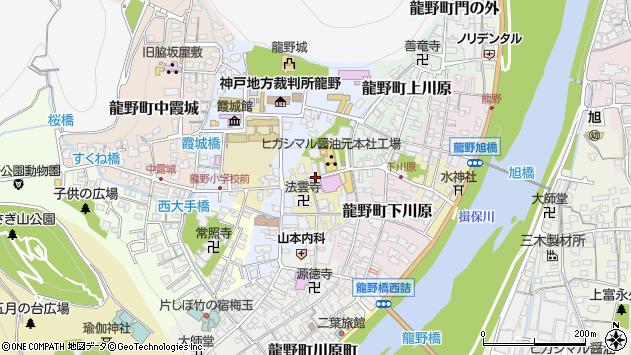 〒679-4178 兵庫県たつの市龍野町大手の地図