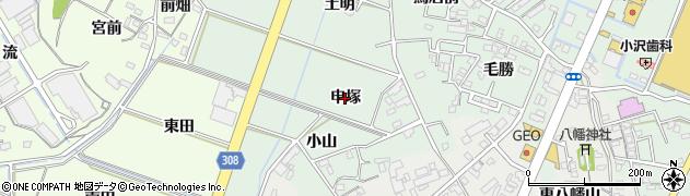 愛知県西尾市下町(申塚)周辺の地図