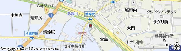 京都府八幡市内里(島)周辺の地図