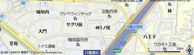 京都府八幡市上奈良(日ノ尾)周辺の地図