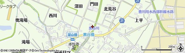 愛知県豊川市足山田町(門田)周辺の地図