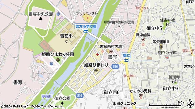 〒671-2202 兵庫県姫路市北夢前台(1丁目1〜77番地)の地図