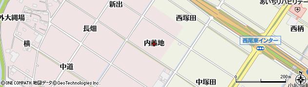 愛知県西尾市和気町(内藤地)周辺の地図