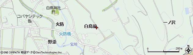 愛知県豊川市上長山町(白鳥前)周辺の地図