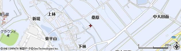 愛知県豊川市萩町(桑原)周辺の地図