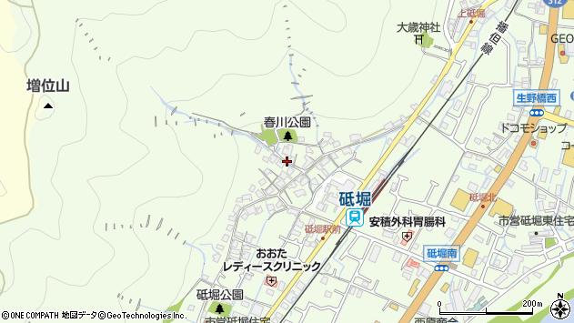 〒670-0802 兵庫県姫路市砥堀の地図