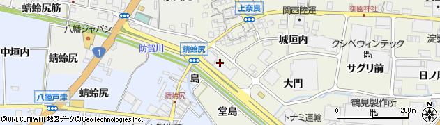 京都府八幡市上奈良(南ノ口)周辺の地図