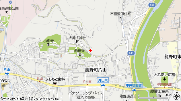 〒679-4123 兵庫県たつの市龍野町片山の地図