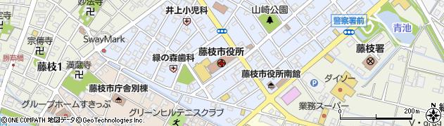 静岡県藤枝市周辺の地図