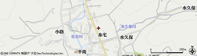 愛知県豊川市千両町周辺の地図