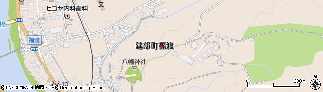 岡山県岡山市北区建部町福渡周辺の地図