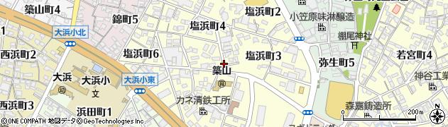 愛知県碧南市塩浜町周辺の地図
