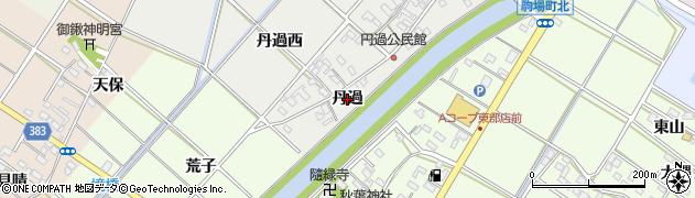 愛知県西尾市下永良町(丹過)周辺の地図