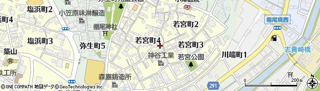 愛知県碧南市若宮町周辺の地図