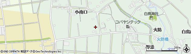愛知県豊川市上長山町(小南口)周辺の地図