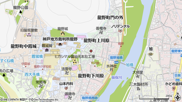 〒679-4172 兵庫県たつの市龍野町上川原の地図