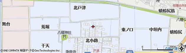 京都府八幡市戸津(北小路)周辺の地図