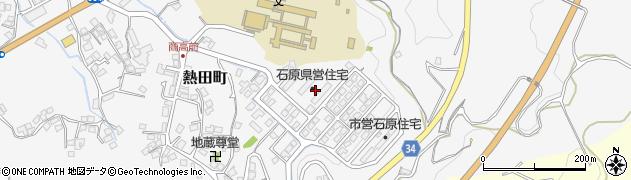 島根県浜田市熱田町(石原)周辺の地図