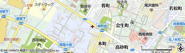 愛知県西尾市幸町周辺の地図