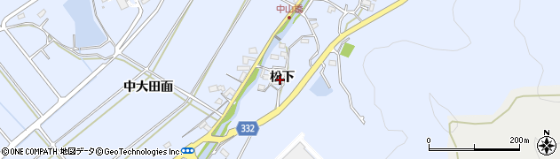 愛知県豊川市萩町(松下)周辺の地図