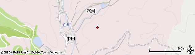 愛知県豊川市財賀町(穴河)周辺の地図