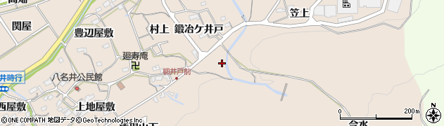 愛知県新城市八名井(三ツ木山下)周辺の地図