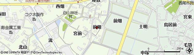愛知県西尾市法光寺町(前畑)周辺の地図