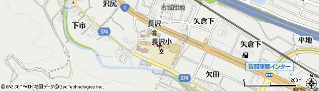 愛知県豊川市長沢町(午新)周辺の地図