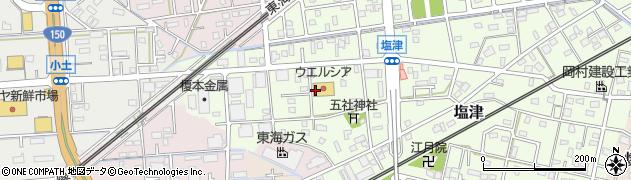 静岡県焼津市塩津周辺の地図