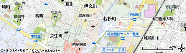 愛知県西尾市神下町周辺の地図