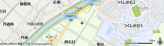 愛知県西尾市駒場町(五反田)周辺の地図