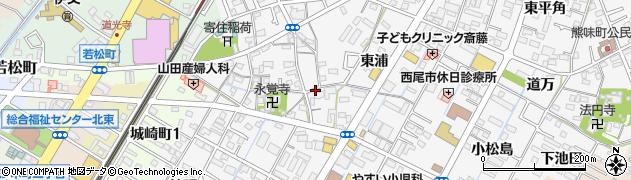 愛知県西尾市寄住町周辺の地図
