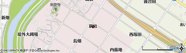 愛知県西尾市和気町(新出)周辺の地図